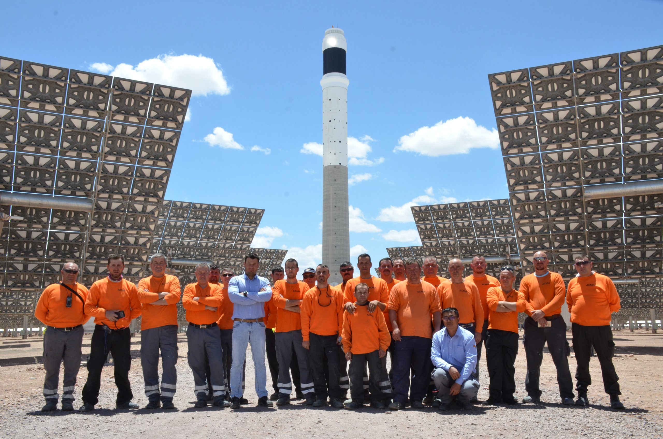 Part of our technical team following the completion of the NOORo III plant in Ourzazate, Morocco